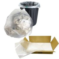 CLEAR Refuse Sacks - 100 Gauge 18x29x32""